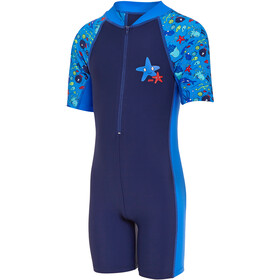 Zoggs Sea Life All In One Swimsuit Girls navy